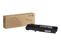 Xerox Phaser 6600 - Svart - original - tonerpatron - for Phaser 6600DN, 6600N, 6600V_DNM; WorkCentre 6605DN 106R02232