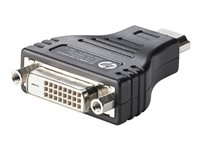 HP HDMI to DVI Adapter - Video adapter - HDMI / DVI - DVI-D (hunn) til HDMI (hann) - for HP 20, 22, 245 G6, 25X G6; Chromebox G2; EliteBook 1040 G4, 1050 G1; Stream Pro 11 G4 F5A28AA
