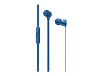Beats urBeats3 - Ørepropper med mikrofon - i øret - kablet - 3,5 mm jakk - lydisolerende - blå - for 10.5-inch iPad Pro; 12.9-inch iPad Pro; 9.7-inch iPad; 9.7-inch iPad Pro; iPad (3rd generation); iPad 1; 2; iPad Air; iPad Air 2; iPad mini; iPad mini 2; 3; 4; iPad with Retina display; iPhone 3GS, 4, 4S, 5, 5c, 5s, 6, 6 Plus, 6s, 6s Plus, SE; iPod classic; iPod nano (5G, 6G, 7G); iPod touch MQFW2ZM/A