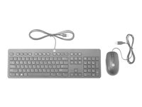 HP Slim - Tastatur- og mussett - USB - Norge - for Chromebook 11 G6, 14 G5; EliteBook 840 G5, 850 G5; Stream Pro 11 G4; ZBook 14u G5, 15u G5 T6T83AA#ABN