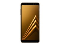 "Samsung Galaxy A8 (2018) - SM-A530F/DS - smarttelefon - dobbelt-SIM - 4G LTE - 32 GB - microSDXC slot - GSM - 5.6"" - 2220 x 1080 piksler (440 ppi) - Super AMOLED - RAM 4 GB - 16 MP (16 MP front camera) - Android - gull SM-A530FZDDNEE"