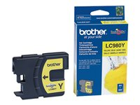 Brother LC980Y - Gul - original - blekkpatron - for Brother DCP-145, 163, 167, 193, 195, 197, 365, 373, 375, 377, MFC-250, 255, 290, 295, 297 LC980Y