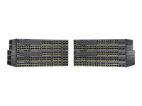 Cisco Catalyst 2960XR-24PD-I - Switch - L3 - Styrt - 24 x 10/100/1000 (PoE+) + 2 x SFP+ - stasjonær, rackmonterbar - PoE+ (370 W) WS-C2960XR-24PD-I