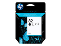 HP 82 - 69 ml - svart - original - blekkpatron - for DesignJet 111, 510, 510ps CH565A