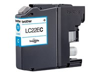 Brother LC22EC - Super High Yield - cyan - original - blekkpatron - for Brother MFC-J5920DW LC22EC