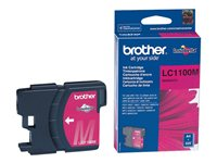 Brother LC1100M - Magenta - original - blekkpatron - for Brother DCP-185, 385, 395, 585, J715, MFC-490, 5490, 5890, 5895, 6890, 790, 795, 990, J615 LC1100M