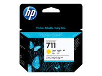 HP 711 - 3-pack - 29 ml - gul - original - blekkpatron - for DesignJet T120, T120 ePrinter, T520, T520 ePrinter CZ136A
