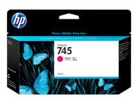 HP 745 - 130 ml - magenta - original - DesignJet - blekkpatron - for DesignJet Z2600 PostScript, Z5600 PostScript F9J95A