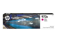HP 973X - Høy ytelse - magenta - original - PageWide - blekkpatron - for PageWide Managed MFP P57750, P55250; PageWide Pro 452, 477 F6T82AE