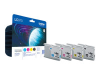Brother LC970 Value Pack - 4-pack - svart, gul, cyan, magenta - original - blekkpatron - for Brother DCP-135C, DCP-150C, DCP-153C, MFC-235C, MFC-260C LC970VALBPDR